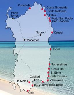 Karte Sardinien Strände.Costa Rei Die Königsküste Im Südosten Sardiniens